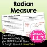 Radian Measure (Algebra 2 - Unit 11)