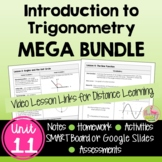 Intro to Trigonometry MEGA Bundle (Algebra 2 - Unit 11)