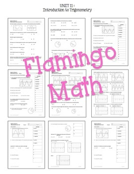 Algebra 2: Introduction to Trigonometry Review-Quiz-Test Bundle