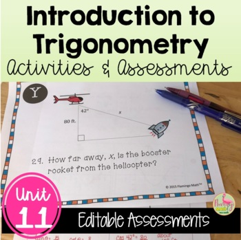 Introduction to Trigonometry Review-Quiz-Test Bundle