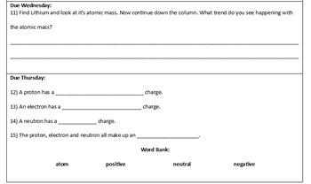 Periodic HW 1 - 3