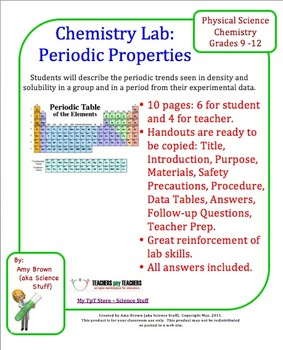 Periodic properties lab determine periodic trends from lab data urtaz Images