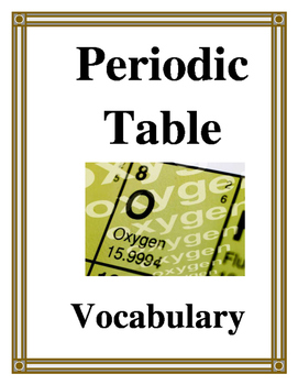 PERIODIC TABLE VOCABULARY