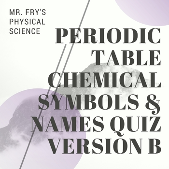 Periodic table 44 elements names chemical symbols quiz version b urtaz Gallery