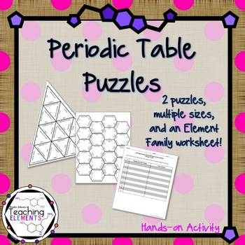 Periodic table activities by teaching elements tpt periodic table activities urtaz Images