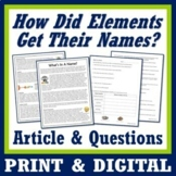 Periodic Table Activity Naming Elements Worksheet with Inf