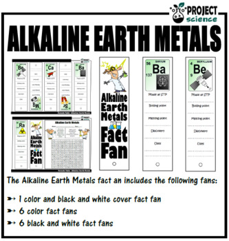 Periodic Table Alkaline Earth Metals Fact Fan