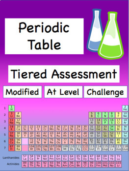 Periodic Table Assessment