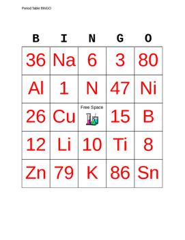 Periodic table bingo teaching resources teachers pay teachers periodic table bingo periodic table bingo urtaz Choice Image