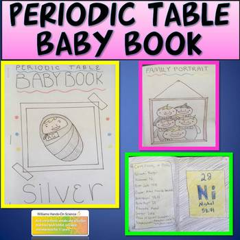 Periodic table baby book by williams hands on science tpt urtaz