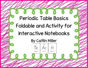 Periodic Table Basics Folda... by Caitlin Miller | Teachers Pay ...