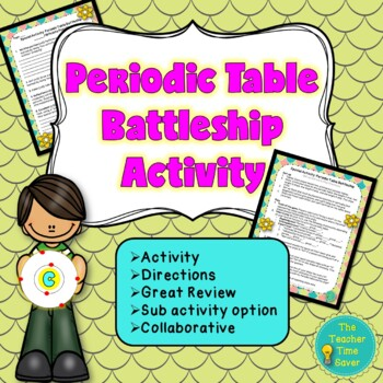 Periodic Table Battleship Game Activity Handout: Matter an