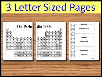 Periodic Table - Big Foldable for Interactive Notebooks or Binders