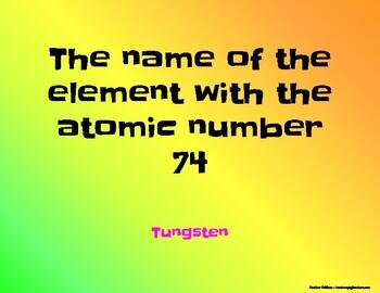 Periodic table bingo names symbols atomic numbers and atomic masses urtaz Gallery