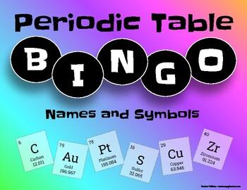 Periodic table bingo names and symbols by heather carmody tpt periodic table bingo names and symbols urtaz Gallery