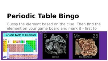 Periodic Table Bingo Power Point