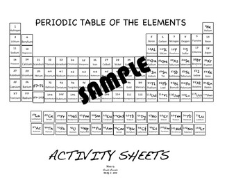 Periodic Table Color Your Own