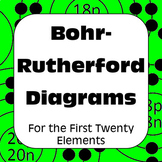Atomic Structure Bohr Diagrams for the First 20 Elements Distance Learning