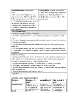 Periodic Table Brochure