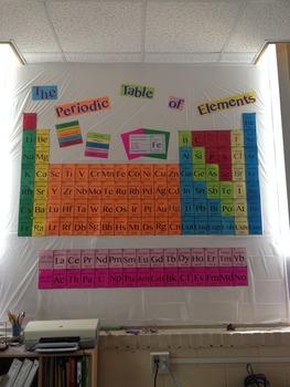 Periodic Table Bulletin Board LARGE
