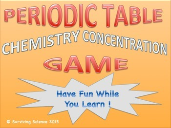 Periodic Table Chemistry Concentration Review Game