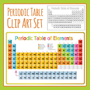 Periodic Table Clip Art Set for Commercial Use