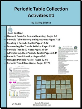 Alien periodic teaching resources teachers pay teachers periodic table collection of activities periodic table collection of activities urtaz Images