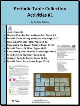 Periodic trends activity teaching resources teachers pay teachers periodic table collection of activities periodic table collection of activities urtaz Gallery