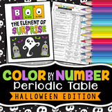 Periodic Table - Color By Number -  Halloween Science Edition