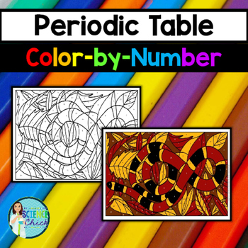 Periodic Table Color By Number By Science Chick Tpt