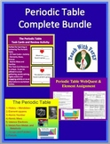 Periodic Table Complete Bundle - Lesson, WebQuest, Task Card and Inquiry Project