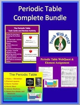 Periodic table complete bundle lesson webquest task card and periodic table complete bundle lesson webquest task card and inquiry project urtaz