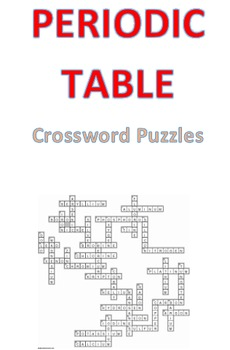 Periodic table crossword puzzle teaching resources teachers pay periodic table crossword puzzles periodic table crossword puzzles urtaz Image collections