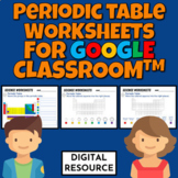 Periodic Table Digital Worksheets for Google Classroom™ Di