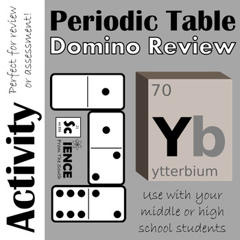 Periodic table domino review activity by science from the south tpt periodic table domino review activity urtaz Choice Image