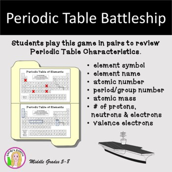 Periodic table battleship by sandys science teachers pay teachers periodic table battleship urtaz Image collections