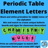 Periodic Table Element Letters for the Entire Alphabet!