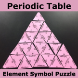 Periodic Table Element Symbol Triangle Puzzle