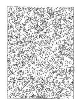 Chemistry Periodic Table Elements Computation Addition Math Practice PDF Digital