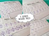 Periodic Table Elements #/mass, dot, symbol, Bohr, proton/