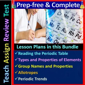 Periodic Table - Engaging & Easy-to-learn Guided Study notes for HS Chemistry