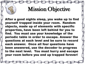 Periodic Table Activity: Escape Room - Science