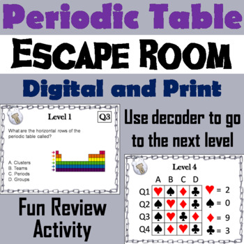 Periodic table escape room teaching resources teachers pay teachers periodic table activity chemistry escape room science urtaz Choice Image