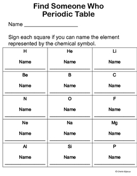 Periodic Table Game