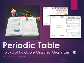 Periodic Table: Graphic Organizer, Fold-Out Foldable, Inte