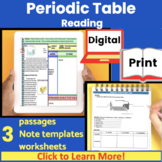 Periodic Table Guided Reading | Close Read