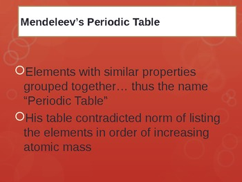 Periodic Table HISTORY & TRENDS