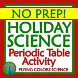 Periodic Table Holiday Christmas Science Worksheet Activity Middle School