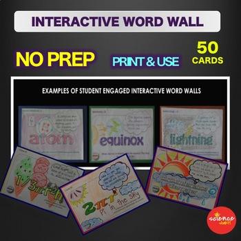 Science - Periodic Table - Interactive Word Wall Activity - NO PREP