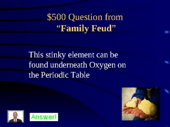 Periodic Table JEOPARDY! Review Game
